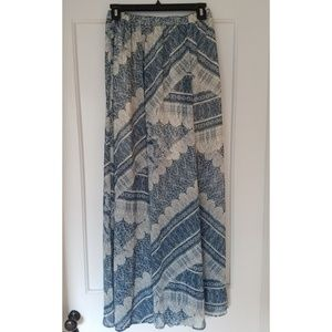 Abercrombie & Fitch Printed Maxi Skirt Sz M